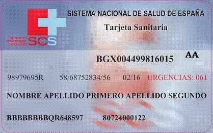 Consejeria De Sanidad De Cantabria Tarjeta A A